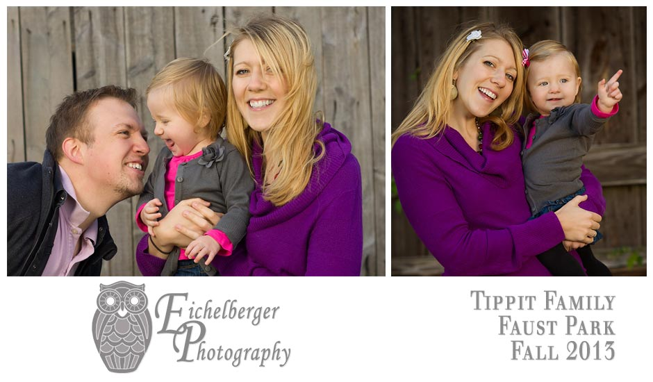 fun fall photos of family in purple at Faust Park in St. Louis County by Eichelberger Photography