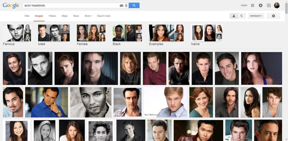 properly cropped headshots of actors from Google